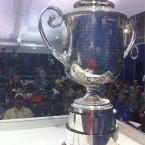 USPGA champion Keegan Bradley tweeted this picture of the Wanamaker during his post-round press conderence on Sunday night. He hash-tagged the image #pgachampion #triplebogies #happiness.