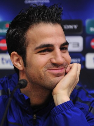Cesc Fabregas: looking smug.