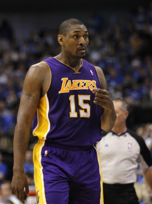 Ron Artest: no wonder he's looking surprised.