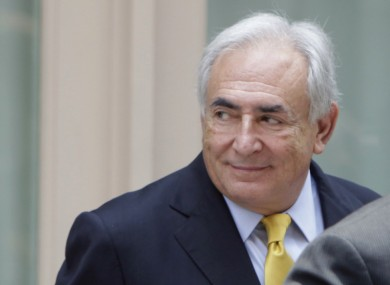 Strauss-Kahn leaving his rented house in New York last month