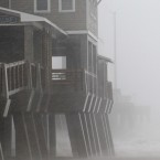The effects of Hurricane Irene are felt in Nags Head (AP Photo/Gerry Broome)