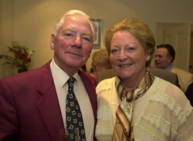 Gay Byrne with wife Kathleen Watkins
