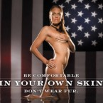 Amanda Beard showed off her body for PETA.