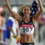 Olympic runner Kara Goucher is in incredible shape.