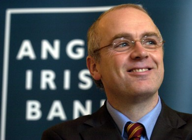 David Drumm as CEO of Anglo Irish Bank in 2004