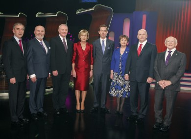 The presidential nominees with Late Late Show host Ryan Tubridy in RTE's studios this evening.