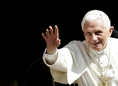 Pope Benedict XVI waves to the faithful last week