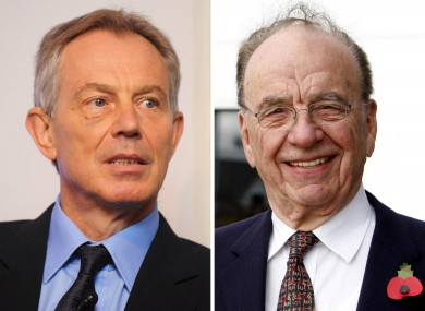 Tony Blair and Rupert Murdoch (File photos)