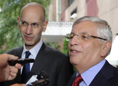 Stern (right) could not confirm whether the regular season would begin on 1 November as planned.