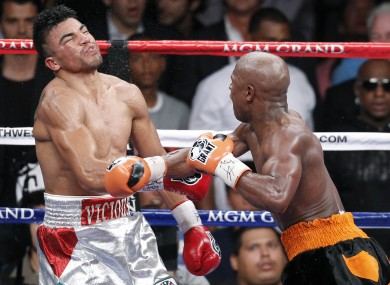 Mayweather knocked out Ortiz in controversial circumstances.
