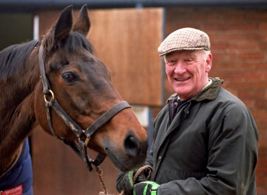Ginger McCain at his stables in Cheshire.