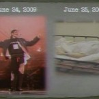 A prosecution exhibit, shown to jurors yesterday, shows Michael Jackson in rehearsal for his concerts - and then on his deathbed, a day later. (AP)