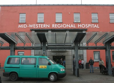 The main entrance of Mid Western Regional Hospital