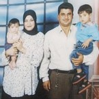 Baha Mousa, his wife and two children.