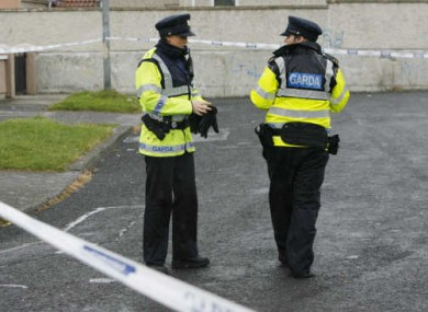 File photo of Gardaí at a crime scene.