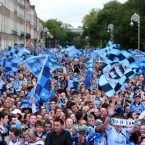 Blue Monday on Merrion Square.