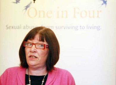 One in Four's Maeve Lewis at the publication of the report yesteray.