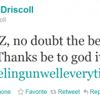 Following Ireland's World Cup disappointment, Brian O'Driscoll turns his attention elsewhere.