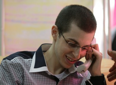 Gilad Shalit pictured speaking to his parents for the first time in five years.