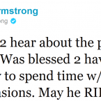 Lance Armstrong was one of many people paying tribute to the late Steve Jobs.