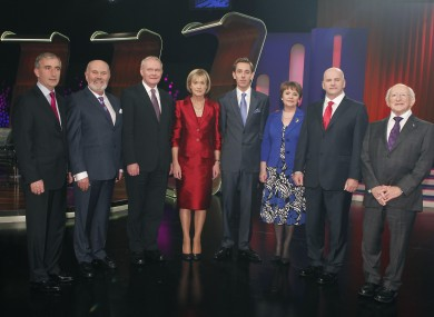 The candidates (with Ryan Tubridy)