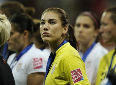 Hope Solo: coming to terms with defeat in the Women's World Cup final.