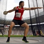 Why do discus throwers become dizzy when they're in action, while hammer throwers - who spin just as much - don't? That was the problem examined by Philippe Perrin and Herman Kingma, who determined that it was down to a form of motion sickness. (Photo: PA)