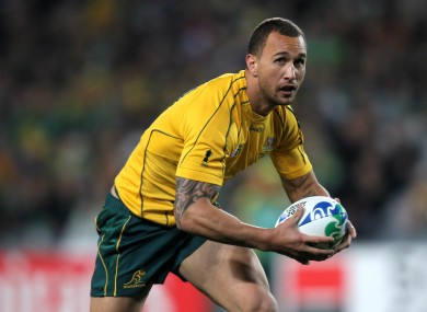 Quade Cooper in action against Ireland.