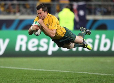 Bonza! Adam Ashley-Cooper glides effortlessly over the line.