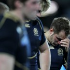 Dan Parks in tears as Scotland are sent home by England.