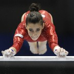 The  Artistic Gymnastics World Championships in Tokyo, Japan, Saturday, Oct. 8, 2011. 