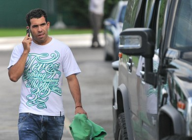 Tevez returned from his two-week ban today.