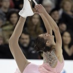 Alissa Czisny during the ladies' short program at the Skate America figure skating competition in Ontario, Calif., Saturday, Oct. 22, 2011. (AP Photo/Jae C. Hong)