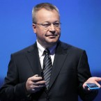 President and CEO of Nokia, Stephen Elop shows off the Lumia 800 (AP Photo/Sang Tan)