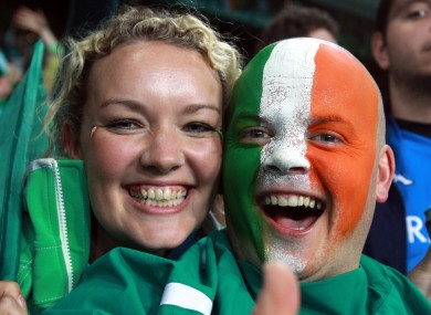Ireland fans in New Zealand. Lucky.