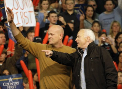 Joe the Plumber with John McCain back in 2008.