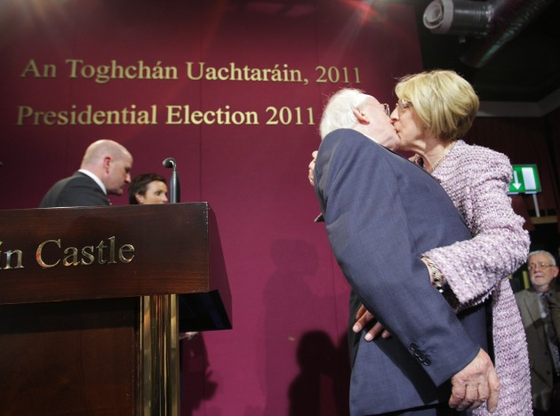 28/10/2010.Labour Partys Michael D Higgins gets a