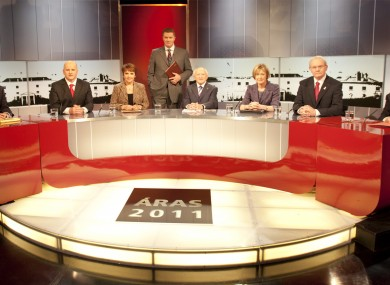 The candidates at the TG4 debate yesterday