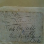 The note Jeremiah Burke wrote and cast overboard from the Titanic four days before he died. Image courtesy of Cobh Heritage Centre.