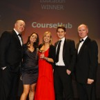 The winner of the Education category at the Eircom Spider Awards 2011 is CourseHub