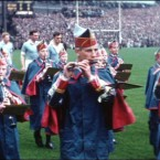 The Artane Boys Band - as it was then - at the 1958 All-Ireland decider between Dublin and Derry.