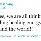Lance Armstrong pays tribute to Jim Stynes.