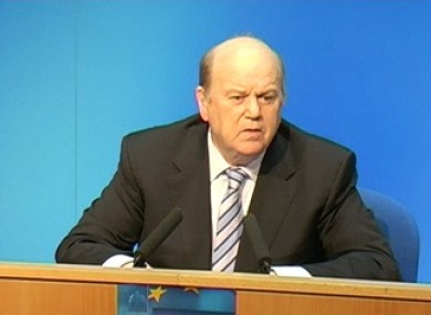 Michael Noonan delivering his Medium Term Fiscal Statement in Dublin this afternoon