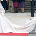 Pippa arrives at Westminster Abbey.