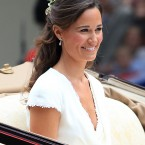 Pippa Middleton on her way back from Westminster Abbey.