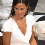Pippa Middleton sits in the pews of Westminster Abbey in London during the wedding ceremony of Prince William and Kate Middleton. (AP Photo/Clara Molden, Pool)