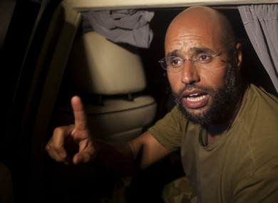 Photo dated 23 August 2011 of Saif al-Islam Gaddafi.