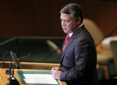 King Abdullah II of Jordan addressing the UN in September 2011.