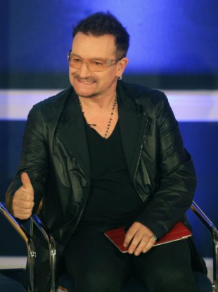 U2 singer Bono pictured earlier this year