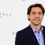 Javier Bardem works on his 'evil villain' look at the Skyfall photoshoot in London. (Ian West/PA Wire)